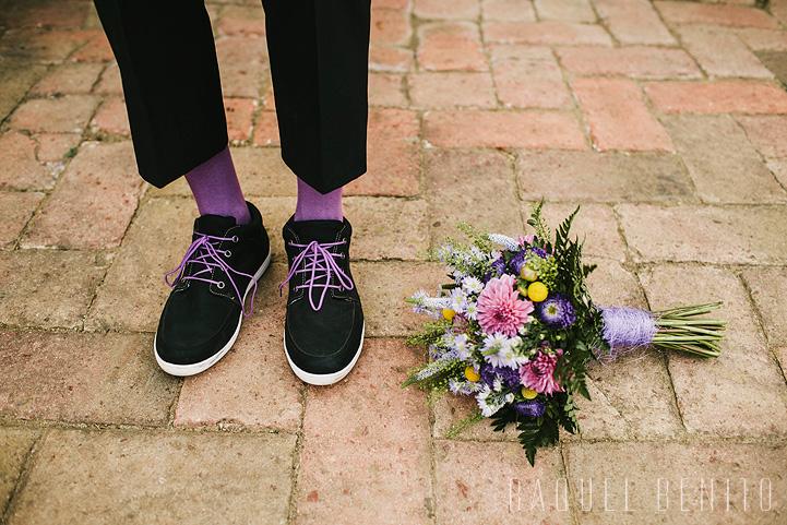 Zapatos novio con ramo