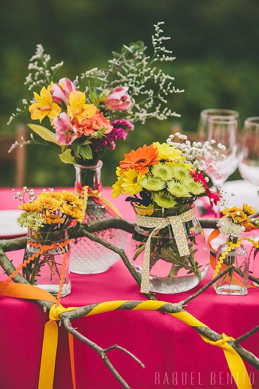 Detalle decoración mesa